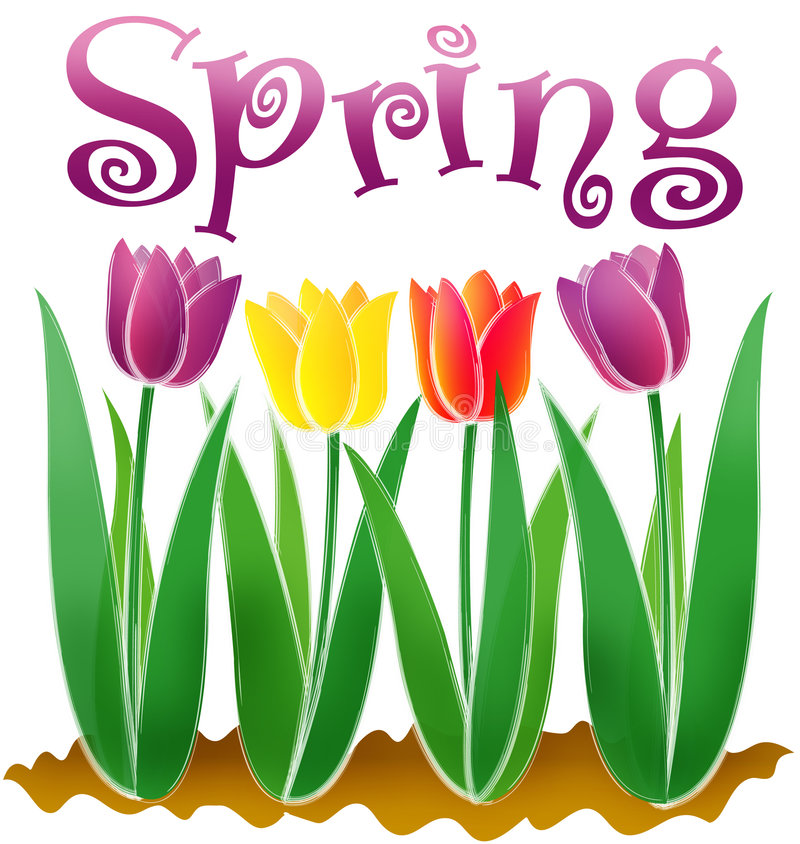 eps wiosna ilustracji