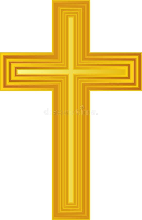 eps złoty krzyż royalty ilustracja