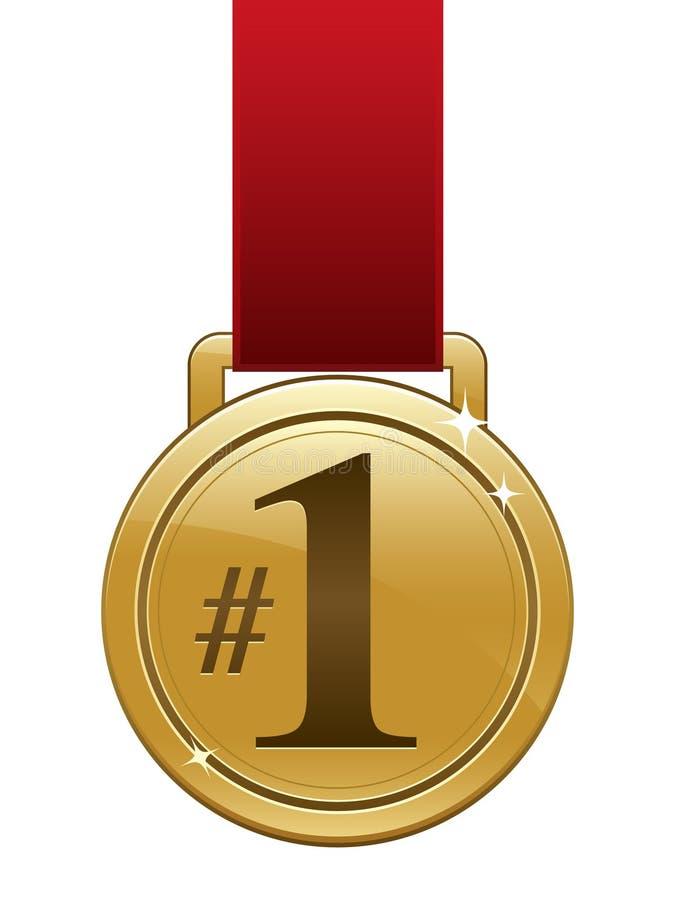 eps złoty medal royalty ilustracja