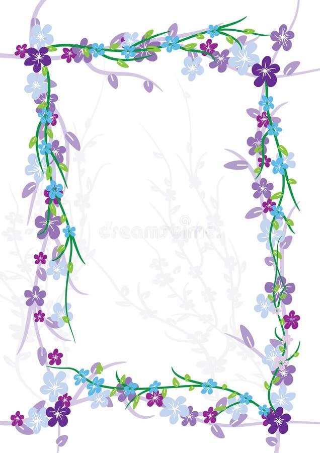 eps zawijasa kwiatów rama ilustracja wektor
