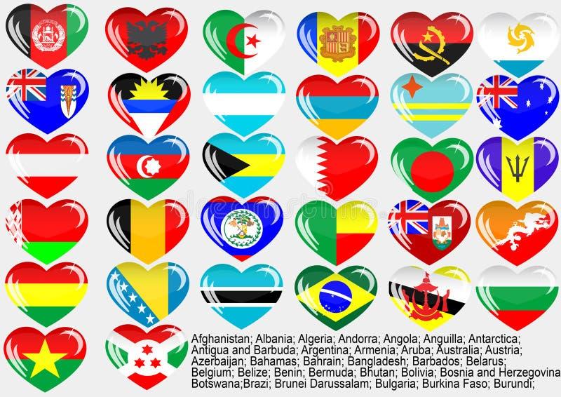 eps10 κόσμος σημαιών ελεύθερη απεικόνιση δικαιώματος