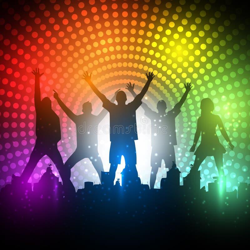 EPS10 de VectorAchtergrond van de Mensen van de partij - Dansende Jonge Mensen vector illustratie