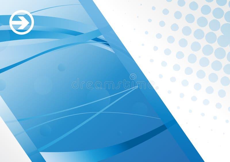 Eps10 Hi-tech Blue Background Stock Photo