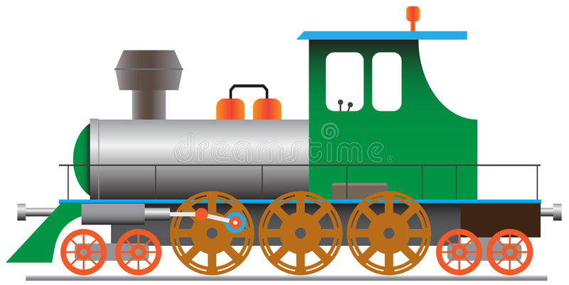 eps8机车蒸汽 向量例证