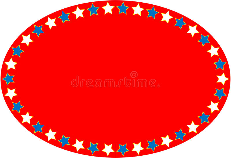 EPS8 Vector Red White Blue Oval Star Background royalty free stock photo