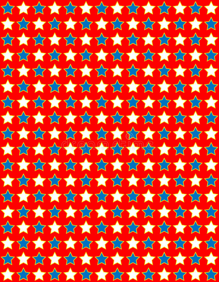 EPS8 Vector Red White and Blue Star Background royalty free stock image