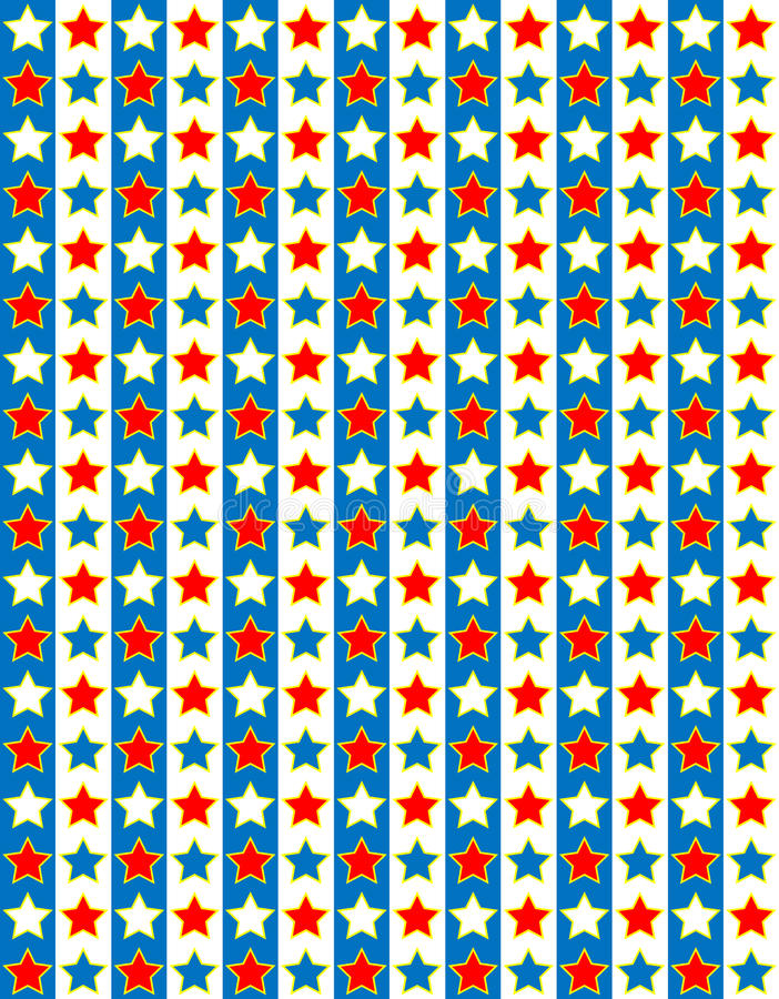 Download EPS8 Vector Red White And Blue Star Background Stock Vector - Image: 24223100