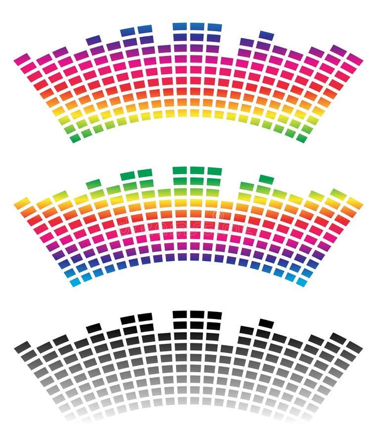 Download Eq, выравниватель в цвете 3 с искажением свода Иллюстрация вектора - иллюстрации насчитывающей multicolor, цвет: 81806773