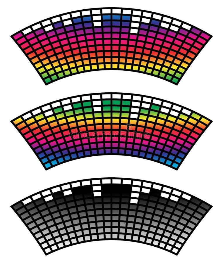 Download Eq, выравниватель в цвете 3 с искажением свода Иллюстрация вектора - иллюстрации насчитывающей игра, элемент: 81806780