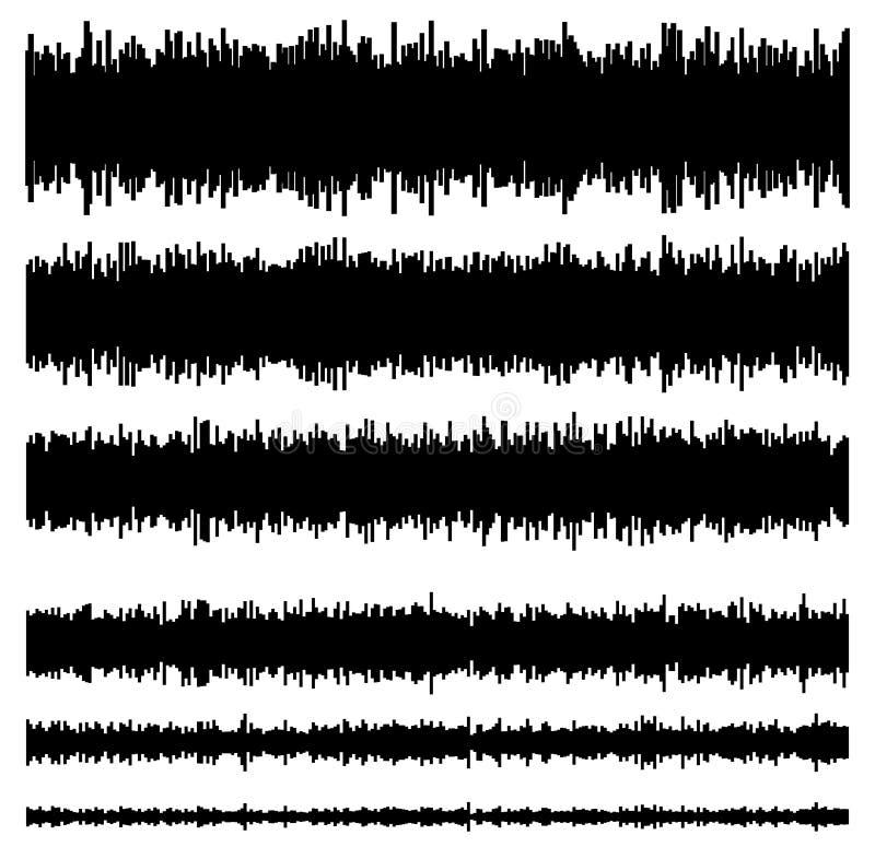 Eq/equaliserelementenmalplaatjes Reeks van versie 6 Muziek, geluid stock illustratie