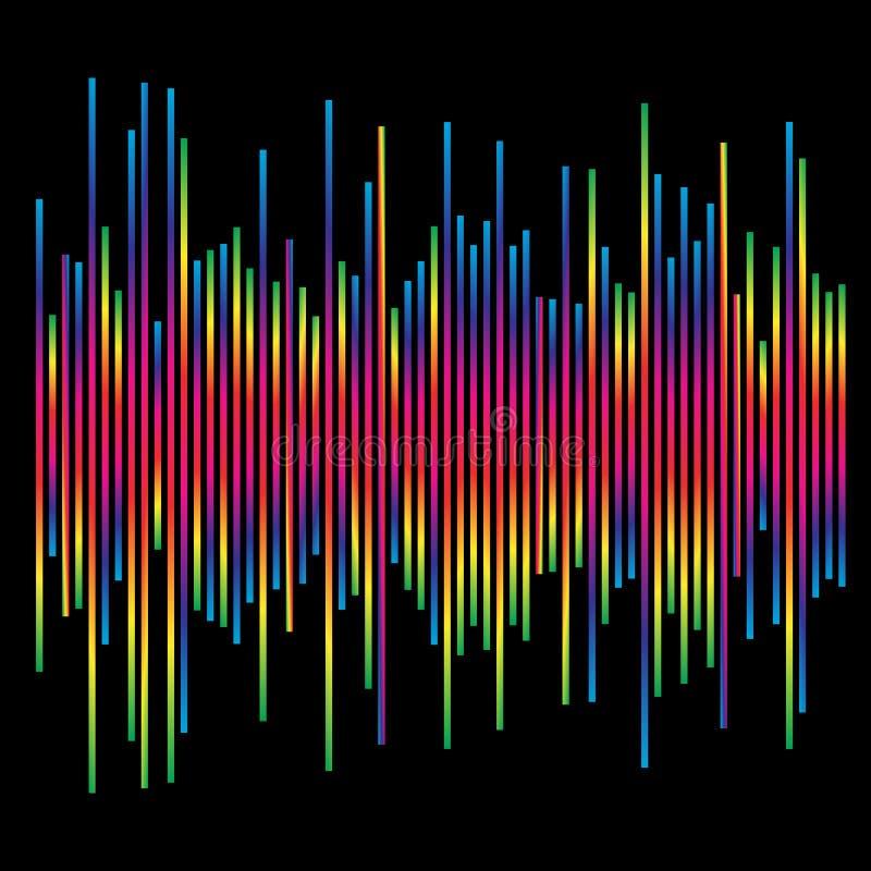 eq, equalizer element. bar chart, bar graph with irregular dynamic lines vector illustration