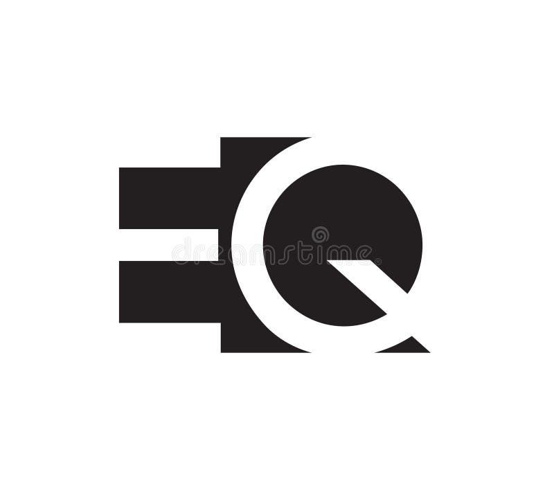 EQ loga pojęcia projekt ilustracja wektor