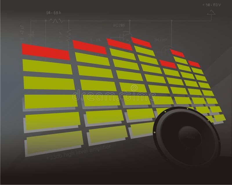 EQ met bacground stock illustratie