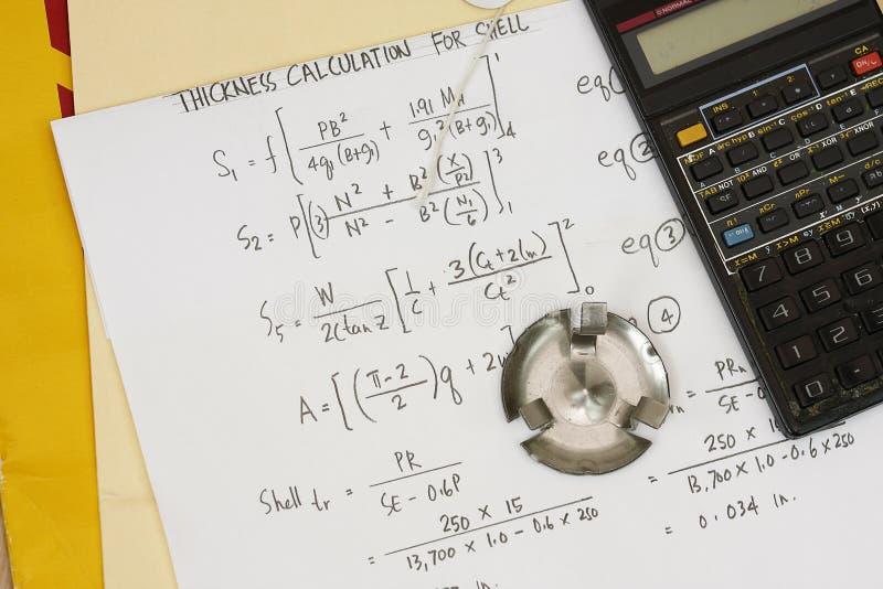Equação e cálculo do código de Asme imagens de stock royalty free