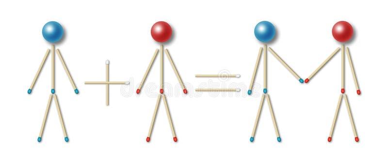 Equação simples dos pares ilustração do vetor