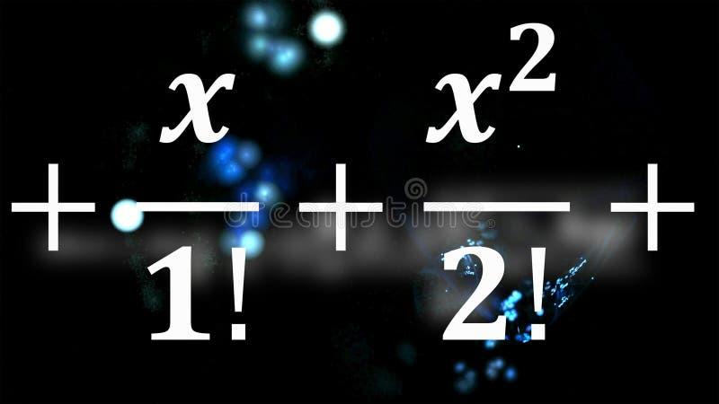 Equações da matemática que voam e que desaparecem na distância imagens de stock royalty free