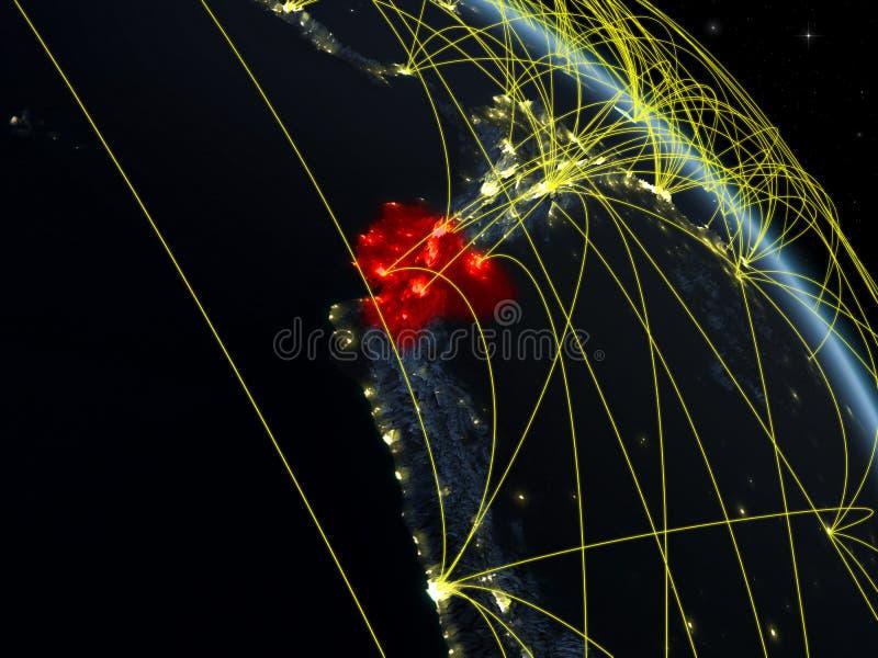 Equador do espaço com rede ilustração royalty free