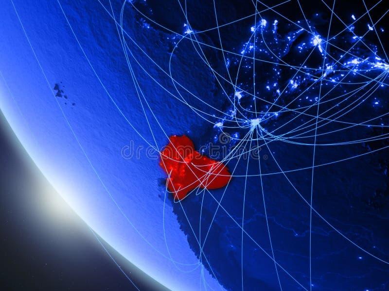 Equador do espaço com rede ilustração stock