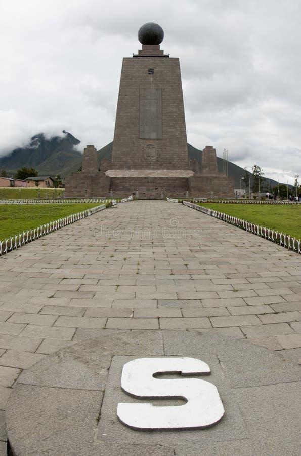 Equador Equador de Mitad del mundo fotografia de stock