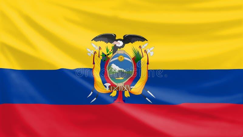 Equador flag stock image