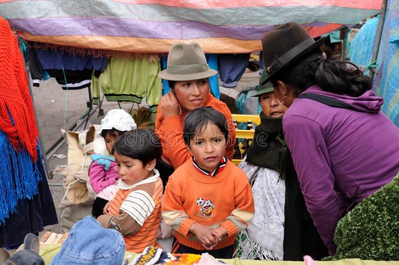 Equador, mercado étnico fotos de stock royalty free