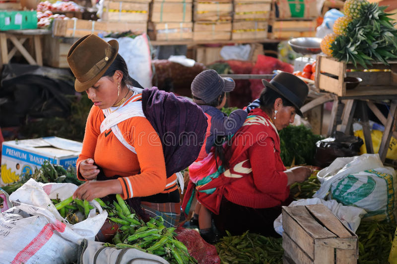 Equador, mulher latin étnica imagens de stock