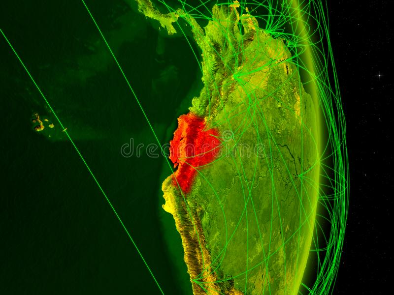 Equador na terra digital ilustração do vetor