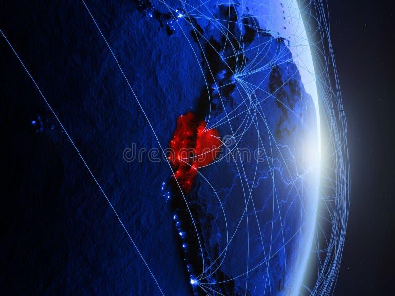 Equador na terra digital azul azul ilustração do vetor
