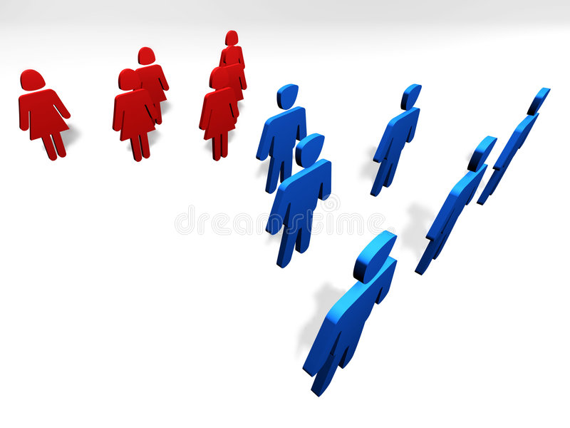 Equal Genders Stock Images
