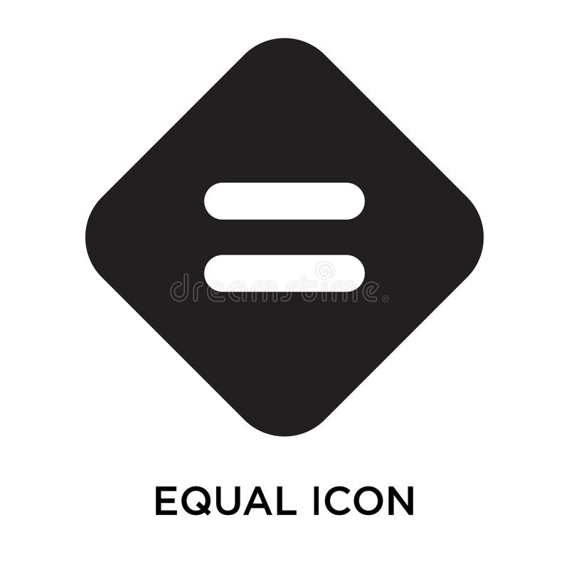 Equal icon vector sign and symbol isolated on white background,. Equal icon vector isolated on white background for your web and mobile app design, Equal logo vector illustration