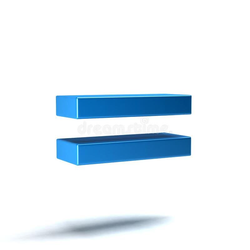 Equal Math Symbol. 3D Render. Ing Illustration royalty free illustration