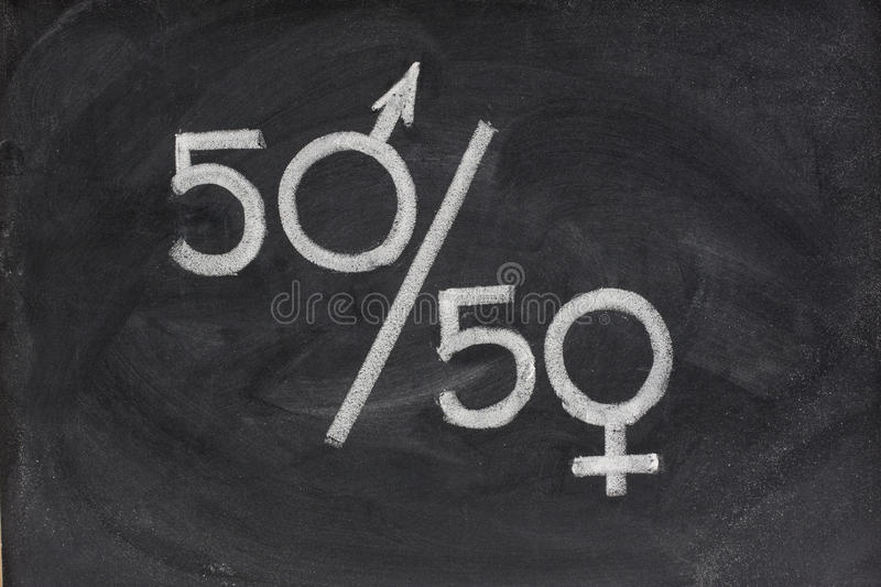 Equal opportunity or representation of genders royalty free stock photo
