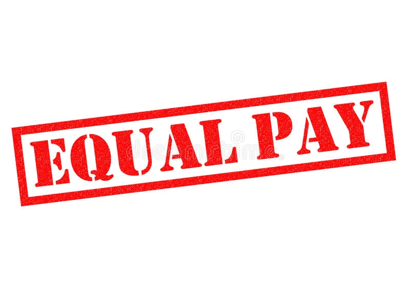 EQUAL PAY. Red Rubber Stamp over a white background royalty free illustration