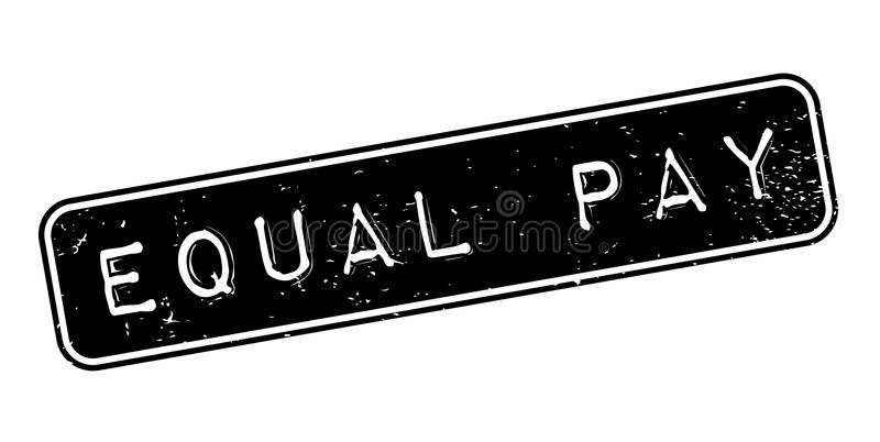 Equal Pay rubber stamp. Grunge design with dust scratches. Effects can be easily removed for a clean, crisp look. Color is easily changed royalty free illustration