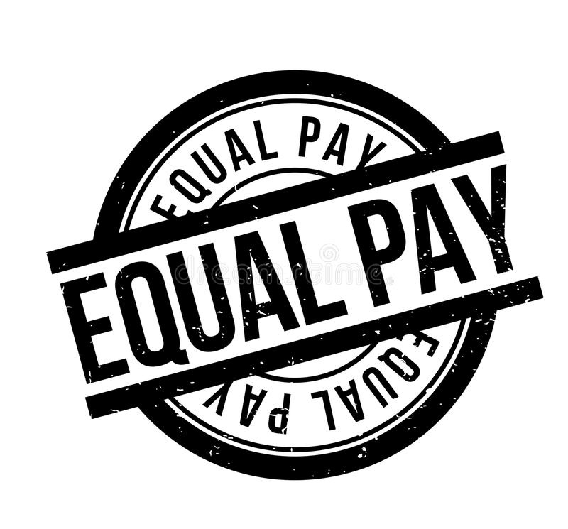 Equal Pay rubber stamp. Grunge design with dust scratches. Effects can be easily removed for a clean, crisp look. Color is easily changed vector illustration