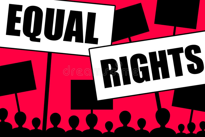 Equal rights stock illustration