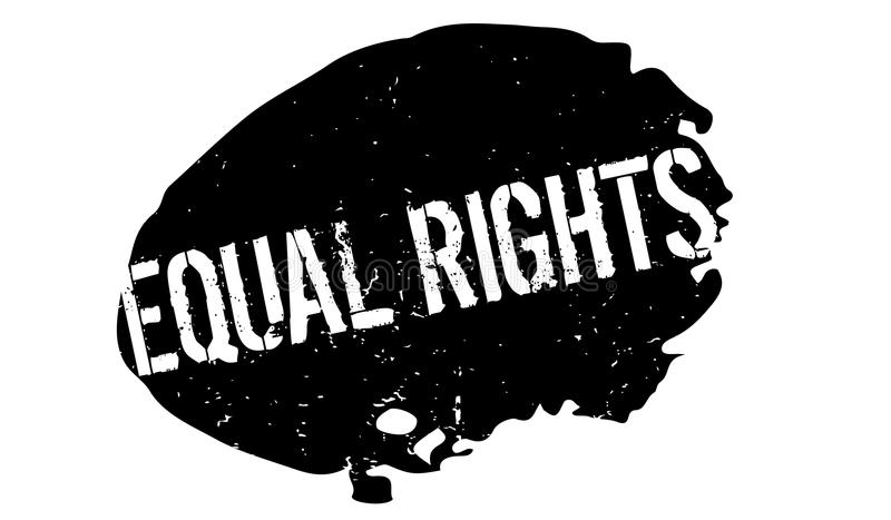 Equal Rights rubber stamp. Grunge design with dust scratches. Effects can be easily removed for a clean, crisp look. Color is easily changed stock illustration