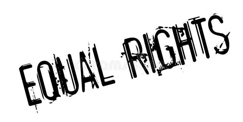 Equal Rights rubber stamp. Grunge design with dust scratches. Effects can be easily removed for a clean, crisp look. Color is easily changed vector illustration