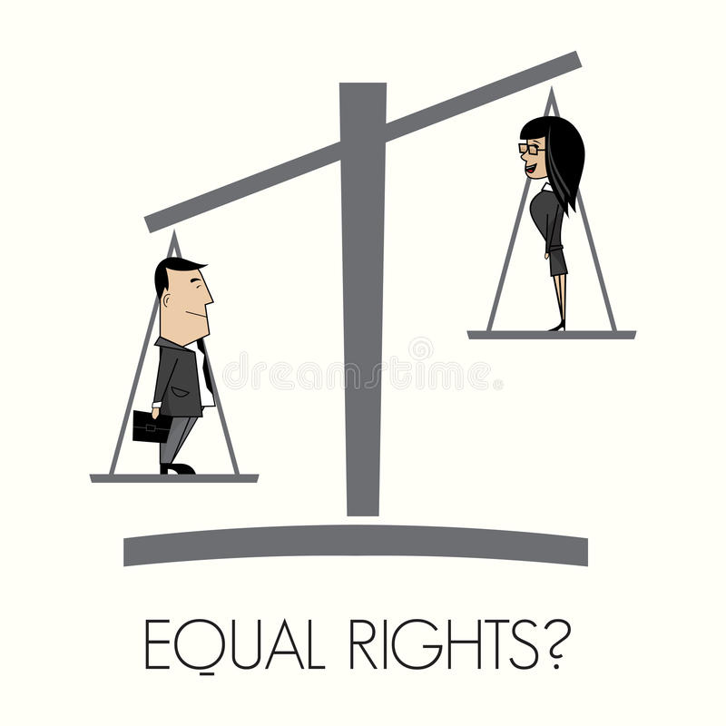 Equal rights. Vector illustration of the Equal rights stock illustration