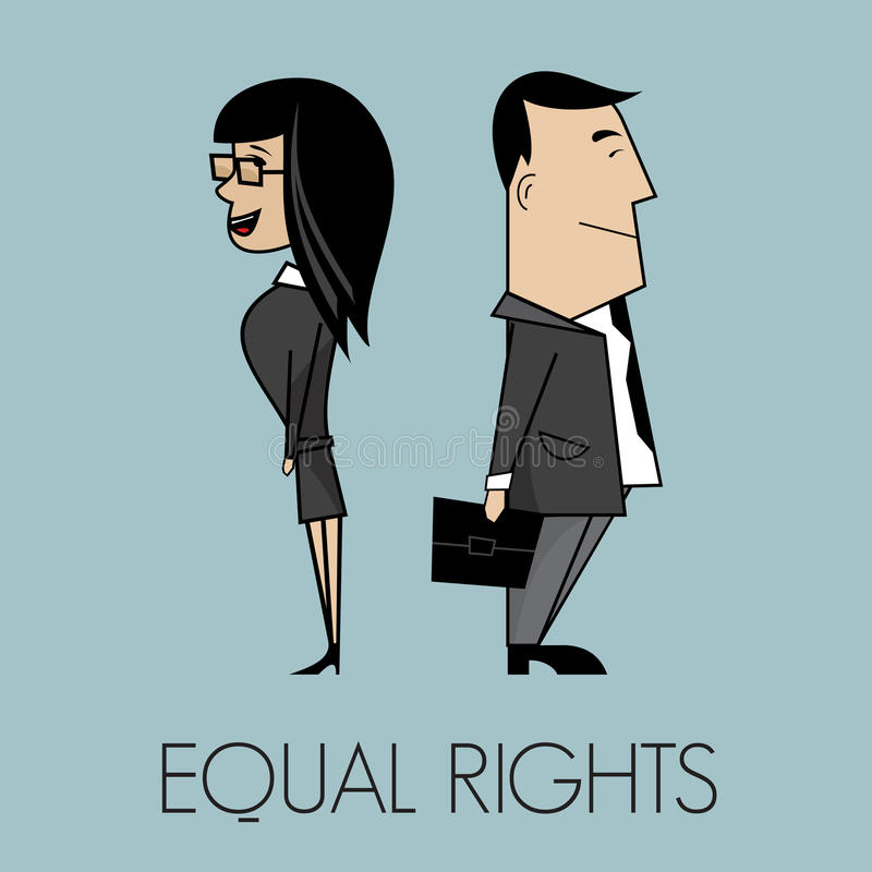 Equal rights. Vector illustration of the Equal rights royalty free illustration