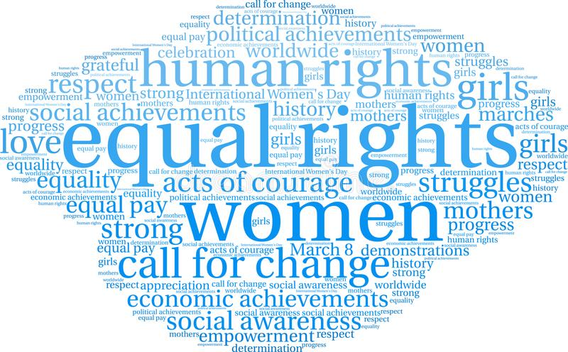 Equal Rights Word Cloud. On a white background vector illustration