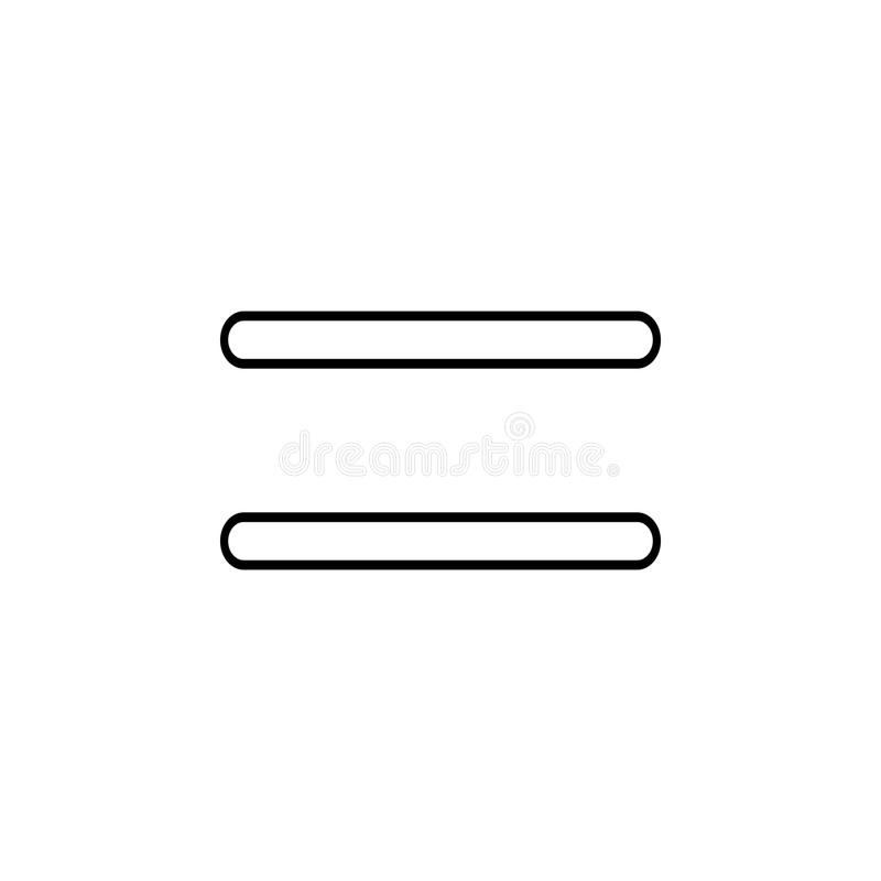 Equal sign. Thin line icon for website design and development, app development. Premium icon. On white background vector illustration