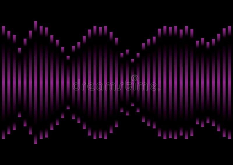 equaliser muzyki purpury ilustracja wektor