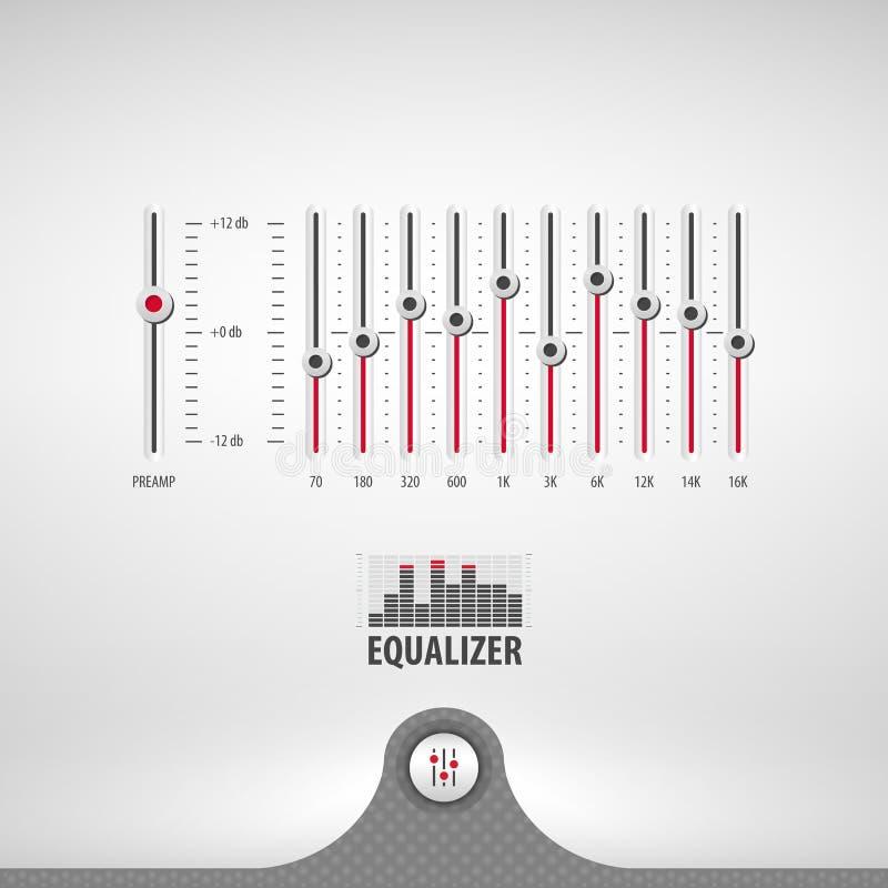 Equaliser voor media speler vector illustratie
