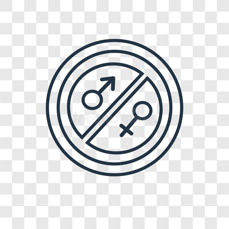 Equality concept vector linear icon isolated on transparent back royalty free illustration