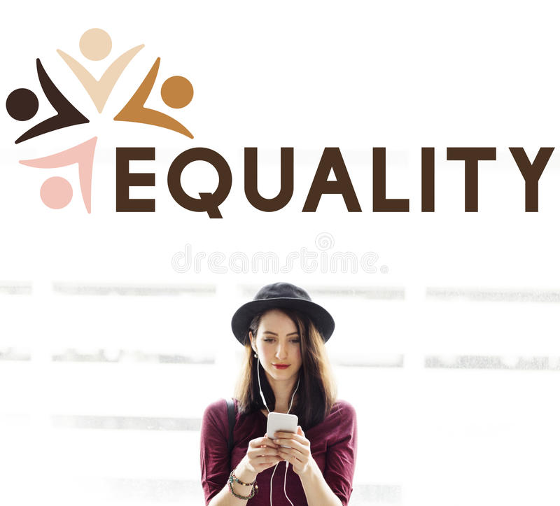 Equality Fairness Fundamental Rights Racist Discrimination Concept. People Choosing Equality Fairness Fundamental Rights stock images