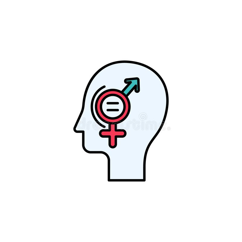 equality,gender, head, signs icon. Element of feminism illustration. Premium quality graphic design icon. Signs and symbols royalty free illustration