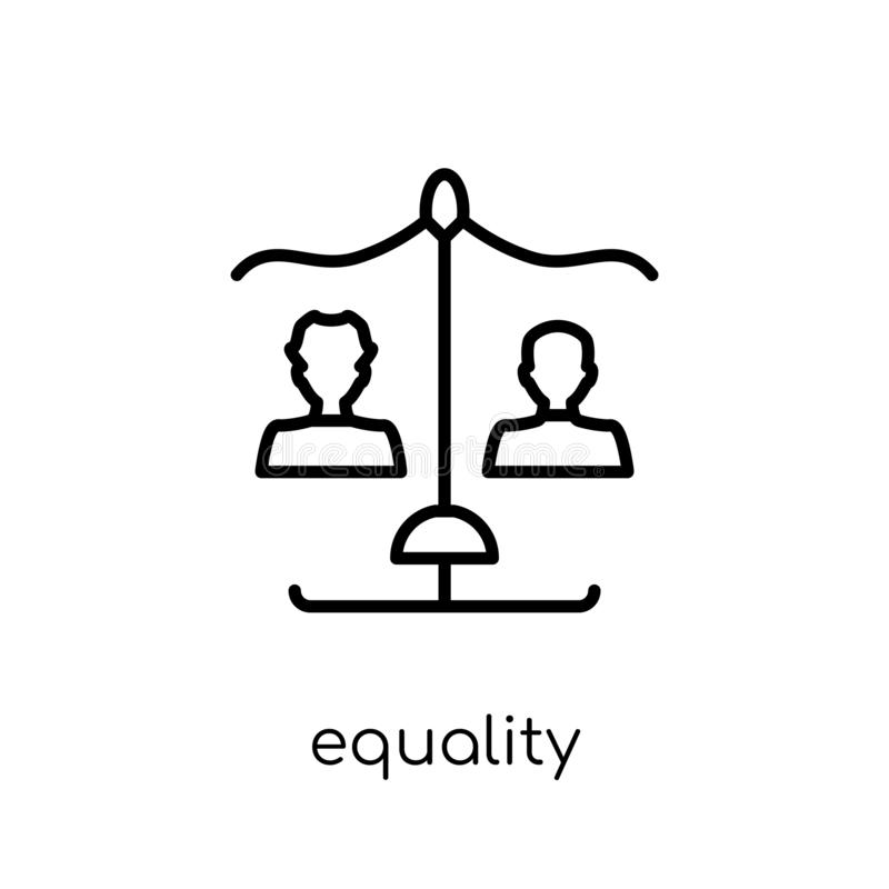 Equality icon from collection. royalty free illustration