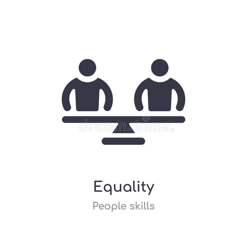 equality outline icon. isolated line vector illustration from people skills collection. editable thin stroke equality icon on royalty free illustration