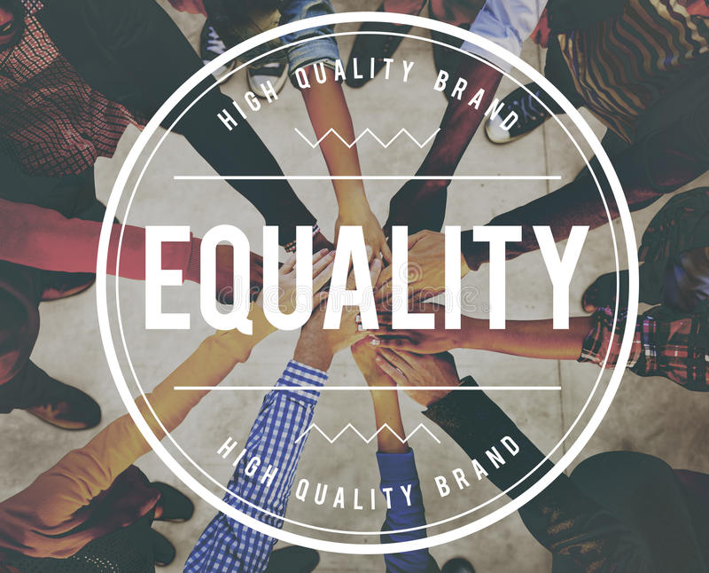 Equality Uniformity Fairness Rights Justice Concept. Equality Uniformity Fairness Rights Justice royalty free stock image